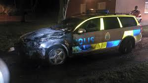 bränd polisbil