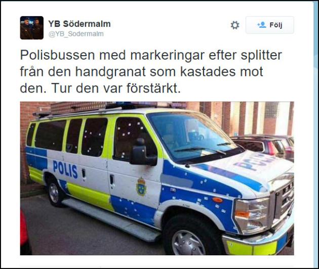polisbil handgranat
